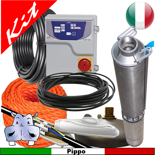 Schema Elettrico Pompa Sommersa Pozzo : Impianto di sollevamento acqua per pozzo con pompa