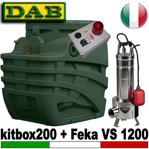 Impianto di sollevamento per fognature FEKABOX 200 - Pompa FEKA VS 1200 - accessori