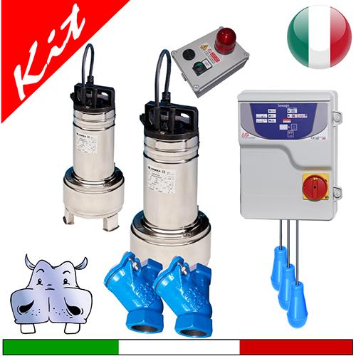 Schema Elettrico Pompa Sommersa : Impianto di sollevamento acque nere con pompe sommerse