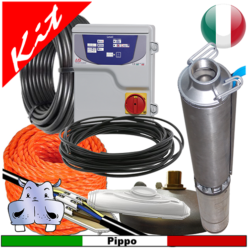 Schema Quadro Elettrico Per Pompa Sommersa Trifase : Impianto di sollevamento acqua per pozzo con pompa sommersa 4gs15