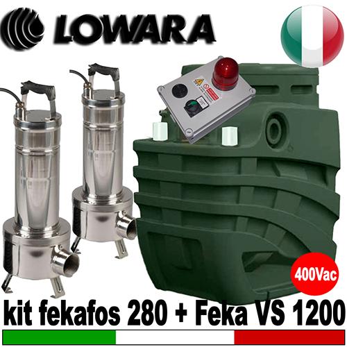 Schema Quadro Elettrico Per Pompa Sommersa Trifase : Impianto di sollevamento per fognature fekafos double 280 2 pompe